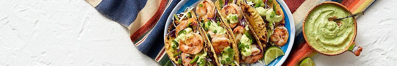 Open Nature® Shrimp Taco with Creamy Avocado Tomatillo Salsa
