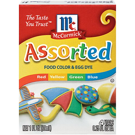 McCormick Food Color & Egg Dye Assorted - 4-0.25 Fl. Oz.