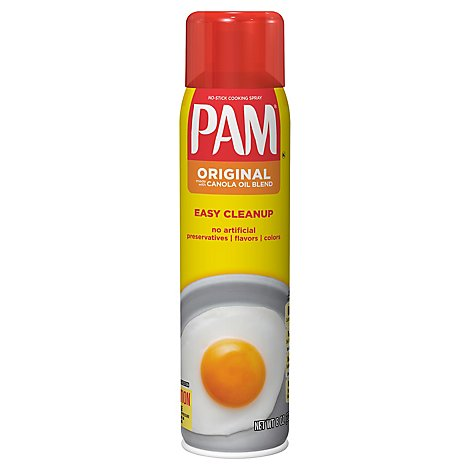 PAM Cooking Spray Canola Oil Superior No Stick Original - 8 Oz