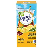 Crystal Light Drink Mix Pitcher Packs Iced Tea Lemon 6 Count - 1.4 Oz