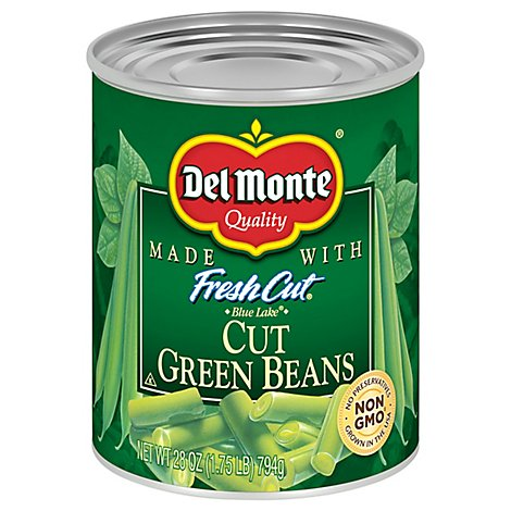 Del Monte Fresh Cut Green Beans Cut Blue Lake - 28 Oz