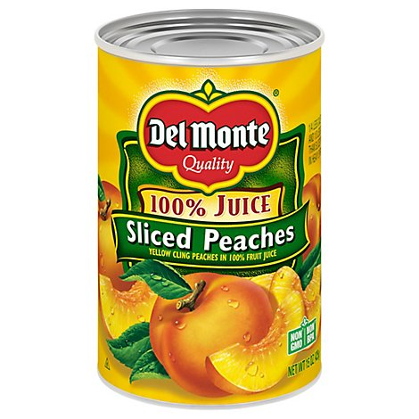 Del Monte Peaches Sliced in 100% Juice - 15 Oz