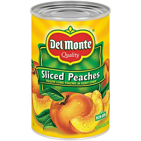 Del Monte Peaches Sliced in Heavy Syrup - 15.25 Oz