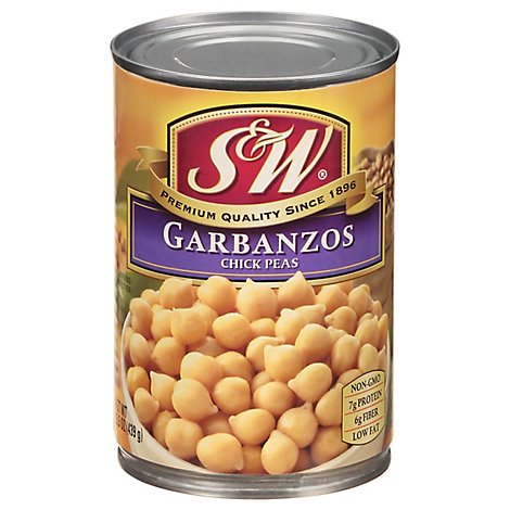 S&W Beans Garbanzo - 15.5 Oz