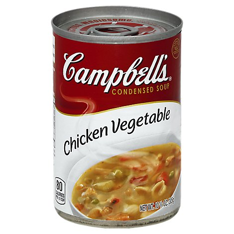 Campbells Soup Condensed Chicken Vegetable - 10.75 Oz