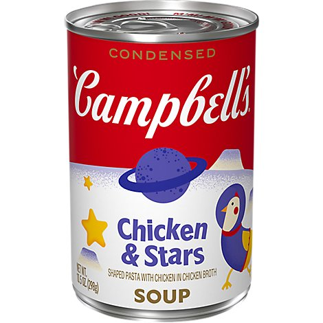 Campbells Soup Condensed Classic Recipe Chicken & Stars - 10.5 Oz