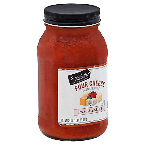 Signature SELECT Pasta Sauce Four Cheese Jar - 24 Oz