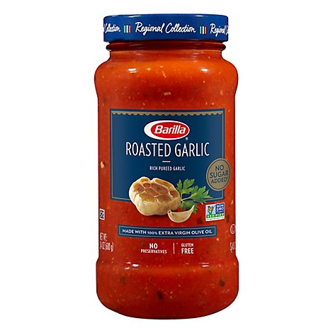 Barilla Pasta Sauce Roasted Garlic Jar - 24 Oz
