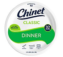 Chinet Dinner Plates 10 3/8 Inch Wrapper - 32 Count