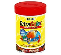 Tetra Fish Food TetraColor Tropical Flakes Natural Color Enhancer Jar - 1 Oz