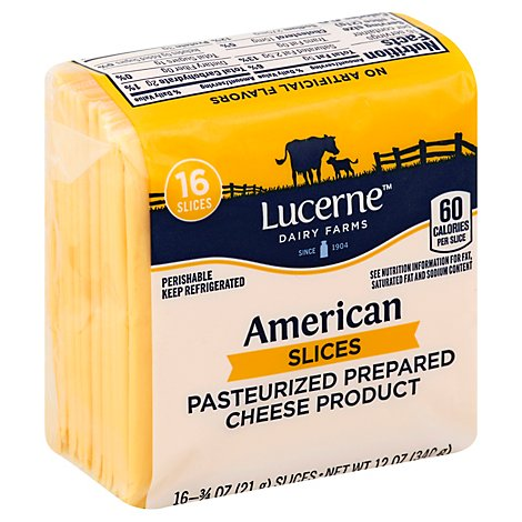 Lucerne Cheese Slices American - 16 - 0.75 Oz
