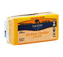 Lucerne Cheese Natural Medium Cheddar - 32 Oz