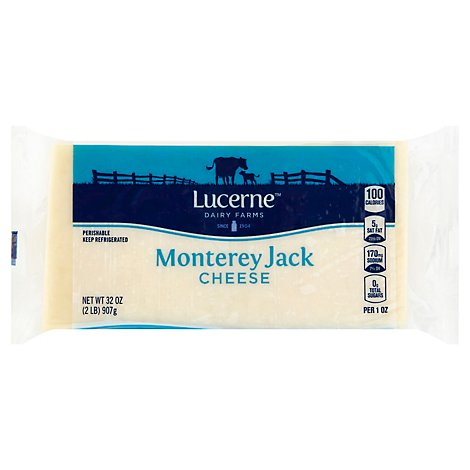 Lucerne Cheese Natural Monterey Jack - 32 Oz