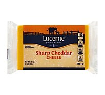 Lucerne Cheese Natural Cheddar Sharp - 16 Oz