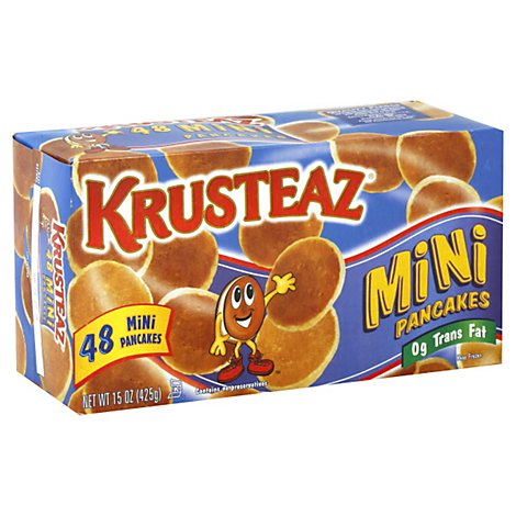Krusteaz Pancakes Mini 48 Count - 15 Oz