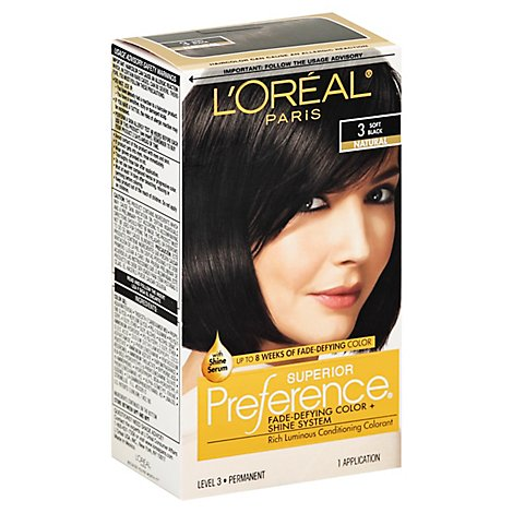 Superior Preference Fade-Defying Color + Shine System Soft Black 3 - Each