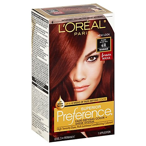 Superior Preference Fade-Defying Color + Shine System Dark Auburn 4r - Each