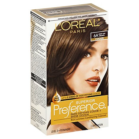 LOreal Hair Color Preference Light Ash Brown 6a - Each