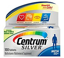 Centrum Silver Multivitamin/Multimineral Tablets Men 50+ - 100 Count