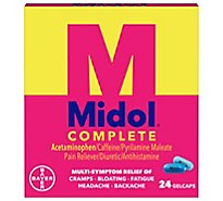 Midol Complete Pain Reliever Maximum Strength Gelcaps - 24 Count