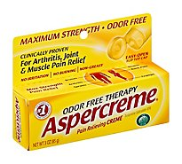 Aspercreme Pain Relieving Creme Maximum Strength Odor Free - 3 Oz