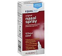 Signature Care Nasal Decongestant Original 12 Hour Spray Oxymetazoline Hydrochloride - 1 Fl. Oz.
