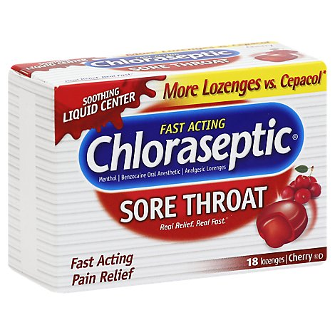 Chloraseptic Cherry Lozenges - 18 Count