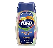 Tums Antacid Tablets Chewable Ultra Strength 1000 Assorted Fruit - 72 Count