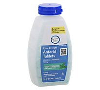 Signature Care Antacid Relief Extra Strength Wintergreen Chewable Tablet - 96 Count
