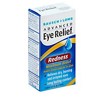 Bausch + Lomb Redness Reliever Lubricant Eye Drops - .5 Fl. Oz.