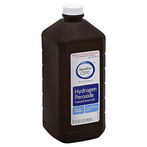 Signature Care Hydrogen Peroxide Topical Solution USP First Aid Antiseptic - 32 Fl. Oz.