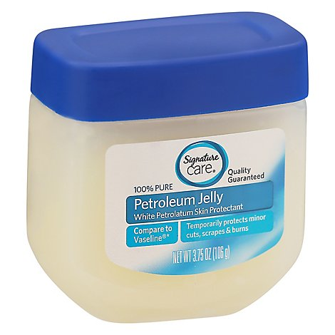 Signature Care Petroleum Jelly 100% Pure Skin Protectant - 3.75 Oz