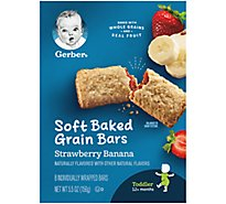 Gerber Graduates Cereal Bars Strawberry & Banana 8 Count - 5.5 Oz
