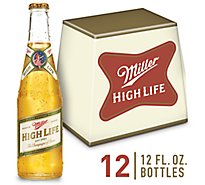Miller High Life Lager Beer Bottles 4.6% ABV - 12-12 Fl. Oz.