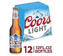 Coors Light Lager Beer Bottles 4.2% ABV - 12-12 Fl. Oz.