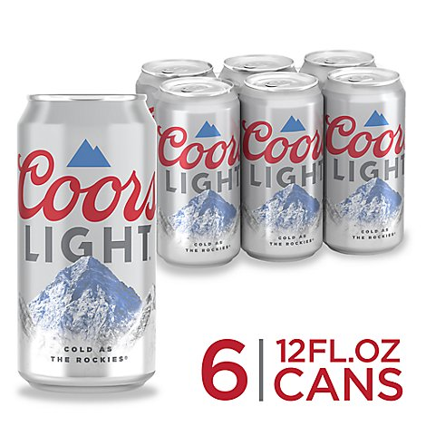 Coors Light Beer Lager 4.2% ABV In Can - 6-12 Fl. Oz.