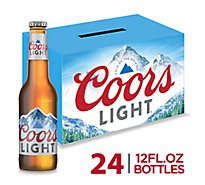 Coors Light Beer Lager 4.2% ABV Bottle - 24-12 Fl. Oz.