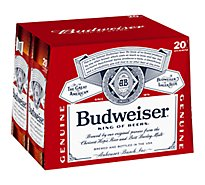 Budweiser Bottled Beer - 20-12 Fl. Oz.