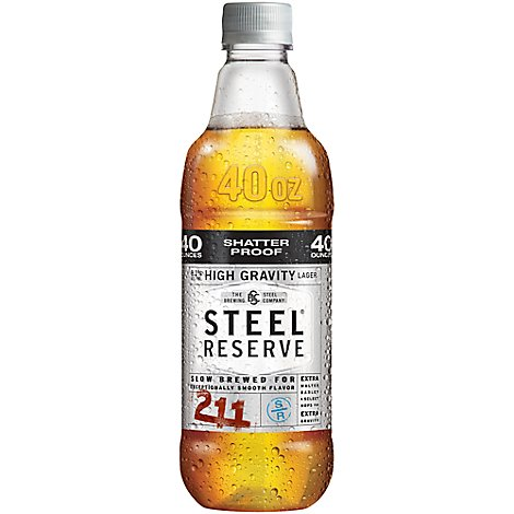 Steel Reserve High Gravity Lager Beer Plastic Bottle 8.1% ABV - 12-42 Fl. Oz.
