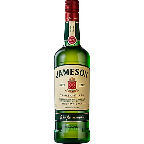 Jameson Irish Whiskey Triple Distilled 80 Proof - 750 Ml