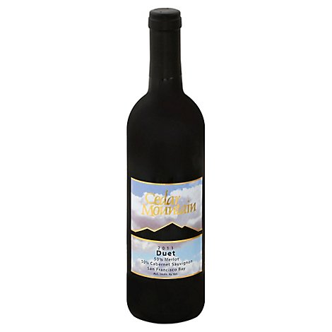 Cedar Mountain Duet Meritage Wine - 750 Ml