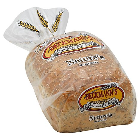 Beckmanns Sourdough 3 Seed Loaf Bread - 24 Oz