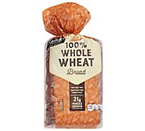 Signature SELECT Bread 100% Whole Wheat - 24 Oz