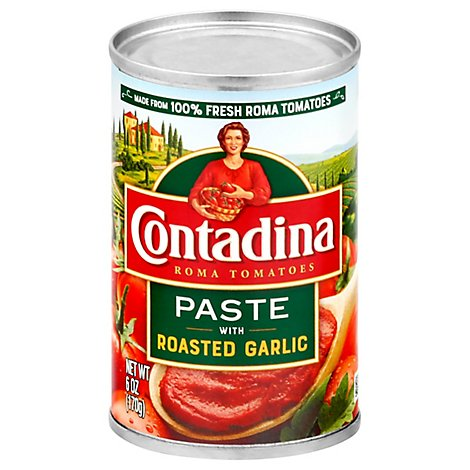 Contadina Tomato Paste Roma Style Tomatoes With Roasted Garlic - 6 Oz