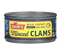 Snows Bumble Bee Clams Minced in Clam Juice - 6.5 Oz