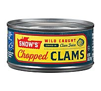 Snows Bumble Bee Clams Chopped in Clam Juice - 6.5 Oz