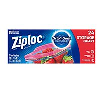 Ziploc Seal Top Storage Bags Quart - 24 Count