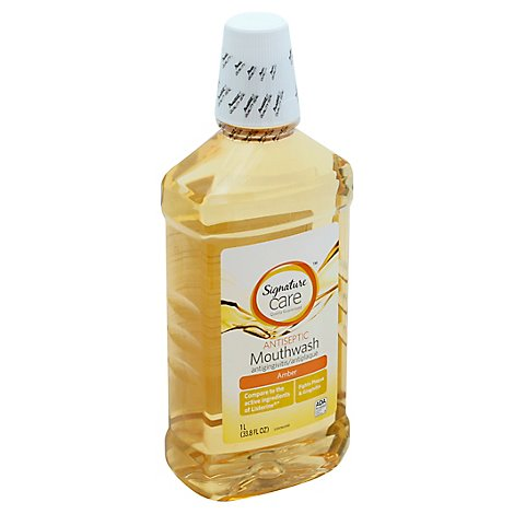 Signature Care Mouthwash Antiseptic Amber - 33.8 Fl. Oz.