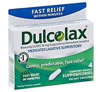 Dulcolax Laxative Suppositories - 4 Count