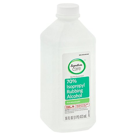 Signature Care Alcohol Isopropyl Rubbing 70% First Aid Antiseptic - 16 Fl. Oz.